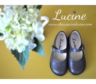 Louise RESISTANTES - cuir GRIS/taupe
