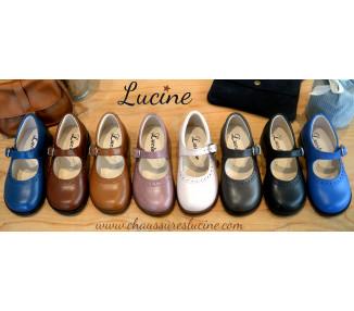 Louise la Costaud - cuir MARINE