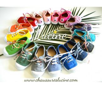 JAUNE- Toiles à lacets et élastiques