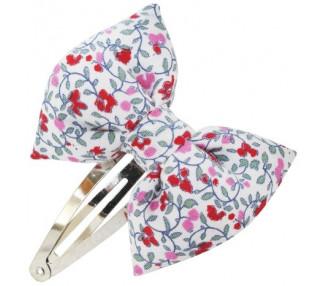 Noeud Papillon - Fleuri rose