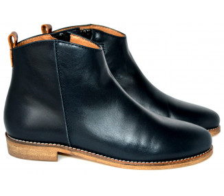 Boots - cuir BLEU MARINE