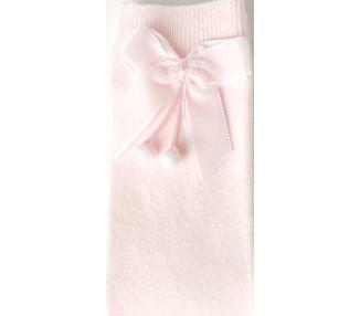 ROSE pâle - Chaussettes hautes à NOEUDS