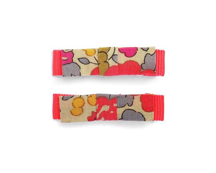 Barrettes Mini kimono - Fluo Thé CROCODILE