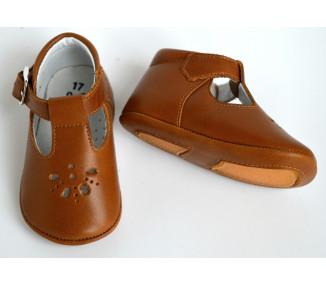 Mini-Aloïs antidérapants - CUIR CAMEL