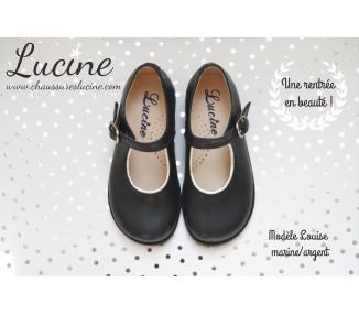 Louise RESISTANTES MARINE/ARGENT cuir