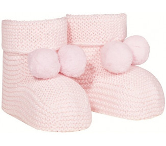 CHAUSSONS point mousse - ROSE PALE