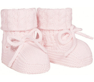 CHAUSSONS noeud - ROSE PALE