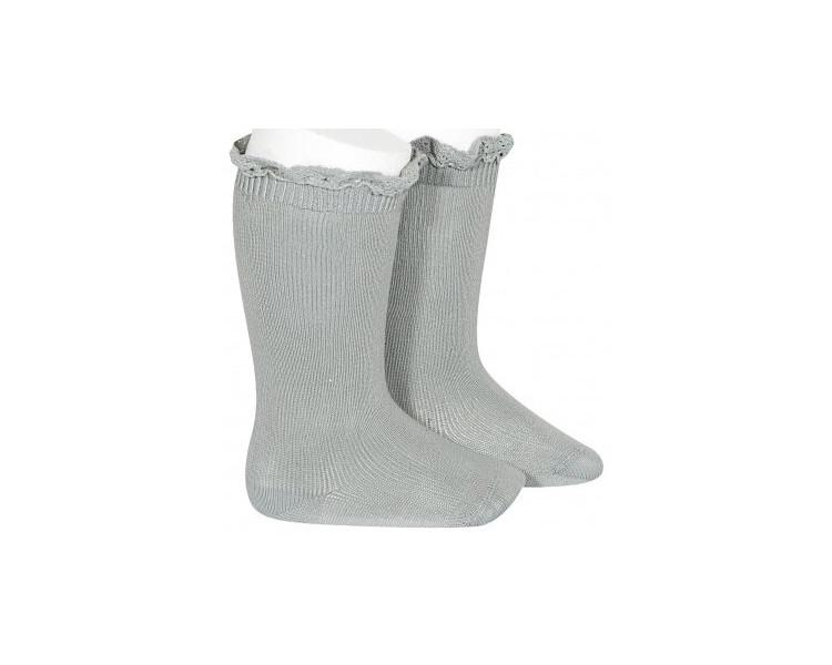 BLEU/VERT grisé - Chaussettes hautes