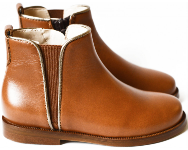 Boots RESISTANTES - cuir CAMEL/OR