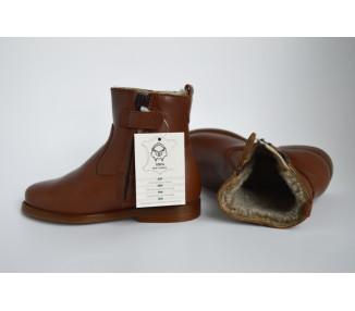 Boots FOURRES RESISTANTES Mixtes- cuir COGNAC