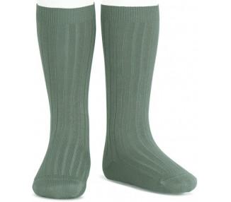Vert LIQUEN - Chaussettes hautes