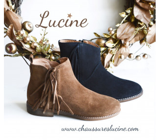Boots - INDIENNES bleu marine