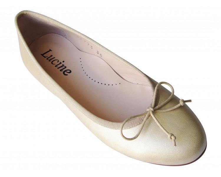 Ballerines en cuir beige DORE T31 à 35