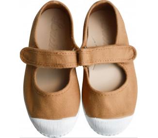 Babies velcro - MOUTARDE/CAMEL