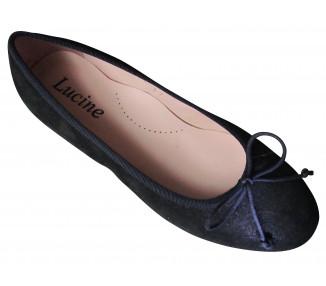 Ballerines en nubuck IRISE BLEUnuit/NOIR T31à38