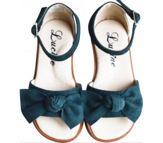 Nu-pieds noeud - VERT bleuté