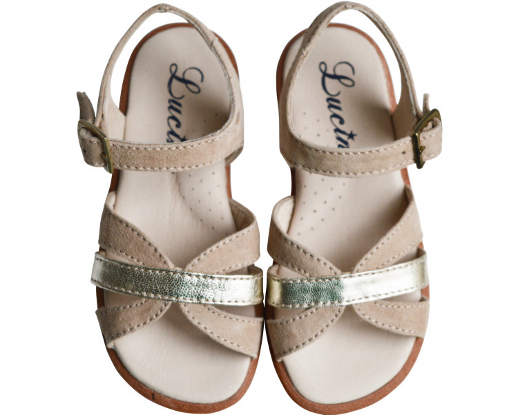 Nu-pieds - TAUPE/OR