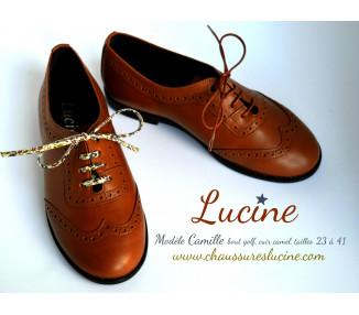 Camille Golf RESISTANTES- cuir CAMEL