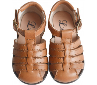 Nu-pieds SOUPLES - Clarence spéciales PIEDS FINS/très fins - CAMEL CLAIR