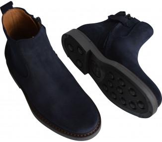 Boots RESISTANTES- nubuck BLEU MARINE