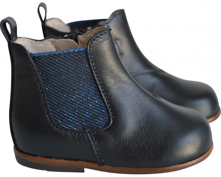 Pieds FINS/très FINS- SOUPLES - Clarence BOOTS- Bleu MARINE/bleu irisé