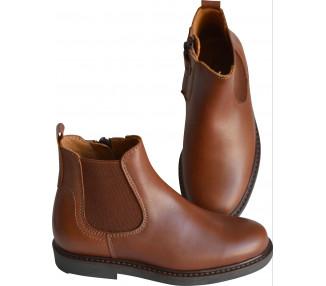 Boots RESISTANTES- cuir COGNAC