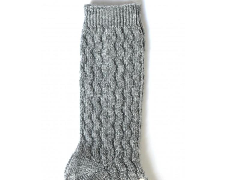 GRIS - Chaussettes hautes chaudes
