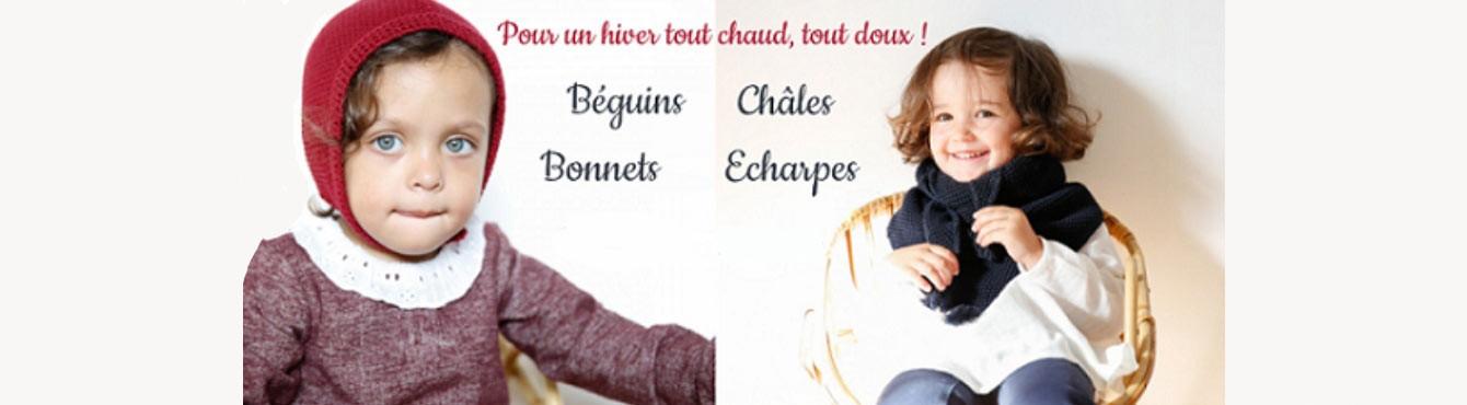 Bonnets, Béguins, Châles et Echarpes | Chaussures Lucine